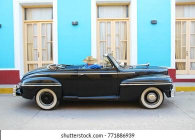 An Oldtimer car on the streets of Trinidad cuba