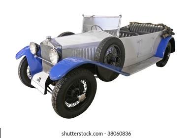 oldtimer veteran car isolated on white