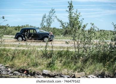 Oldtimer wedding car