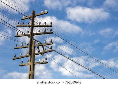 Wooden Power Poles Images Stock Photos Vectors Shutterstock