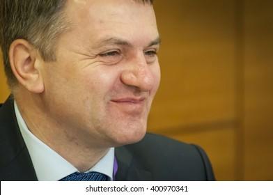 Oleh (Oleg) Sinyutka, Ukrainian politician, the governor of the Lvov region in Ukraine. Kiev, Ukraine, April 2016.