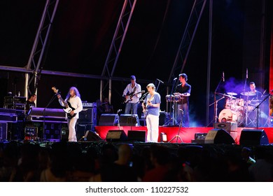 OLHAO, PORTUGAL - AUGUST 11: Rui Veloso performs onstage at seafood festival on August 11, 2012 in Olhao.