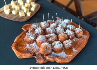 Olibollen traditional dutch food. Also known as croustillons in french or Dutch doughnuts or dutchies in english. Traditionally eating on New Year's eve and funfairs.