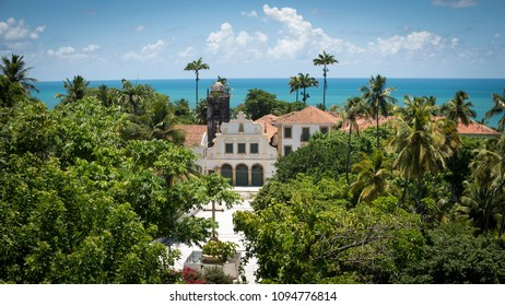 OLINDA, BRAZIL - MARCH 20, 2018: The colonial buildings of Olinda in Pernambuco, Brazil dated from the 17th century and preserved as world heritage.