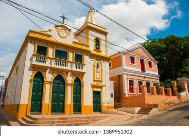 Olinda, Pernambuco, Brazil: The historic streets of Olinda in Pernambuco, Brazil with its cobblestones and buildings dated from the 17th century when Brazil was a Portuguese colony.