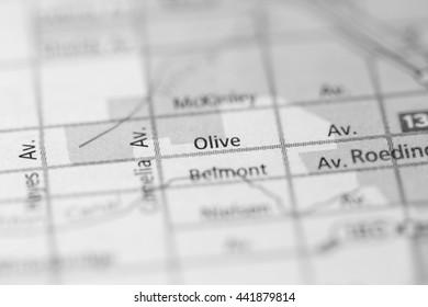 Olive Avenue. Fresno. California. USA