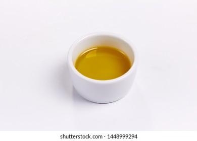 olive oil in the bowl