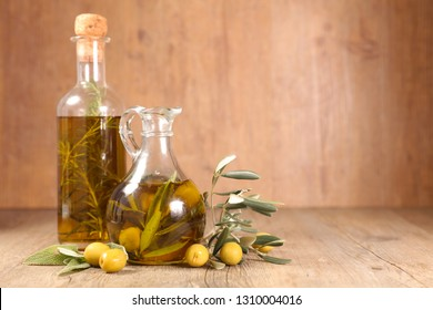 olive oil and branch