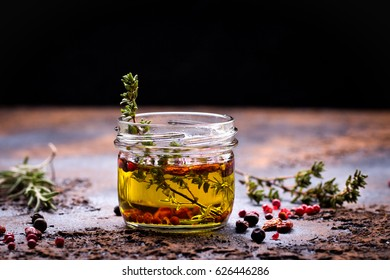 olive oil flavored with spices