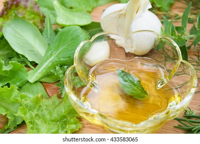 olive oil with spice and herbs
