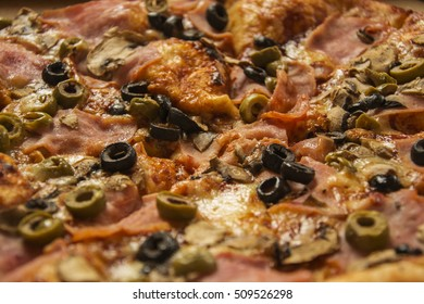Olive on pizza