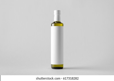 Olive / Sunflower / Sesame Oil Bottle Mock-Up - Blank Label