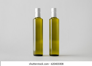 Olive / Sunflower / Sesame Oil Bottle Mock-Up - Two Bottles