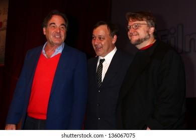 Oliver Stone, Sam Raimi, Guillermo del Toro at the Cinemacon 2013 Filmmakers Lunch And Panel Discussion, Private Location, Las Vegas, NV 04-17-13