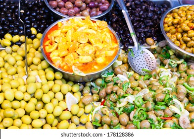 Olives at Mahane Yehuda, famous market in Jerusalem