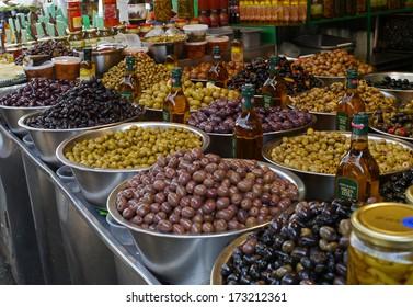 olives at market