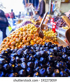 Olives at a market