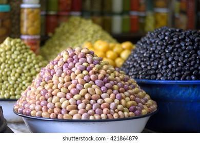 The olives in the Mediterranean region