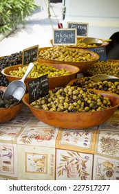 Olives on a France market.