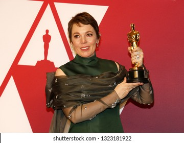 Olivia Colman at the 91st Annual Academy Awards - Press Room held at the Hollywood and Highland in Los Angeles, USA on February 24, 2019.