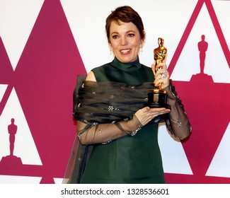 Olivia Colman at the 91st Annual Academy Awards - Press Room held at the Loews Hotel in Hollywood, USA on February 24, 2019.
