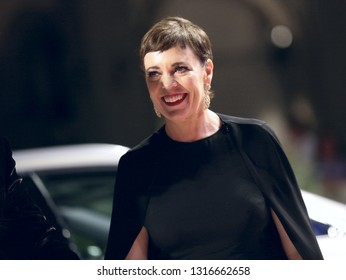 Olivia Colman walks the red carpet of the movie 'The Favourite' during the 75th Venice Film Festival on August 30, 2018 in Venice, Italy.