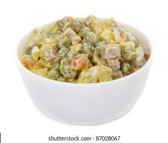 olivie salad in bowl