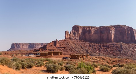 Oljato-Monument Valley, Arizona / USA - June 21 2017: ?onument Valley Navajo Tribal Park. Tour of the sights of the Arizona Monument Valley. Visitor center for tourists