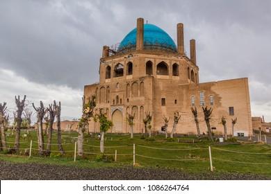 Oljeitu mausoleum in Soltaniyeh, Iran