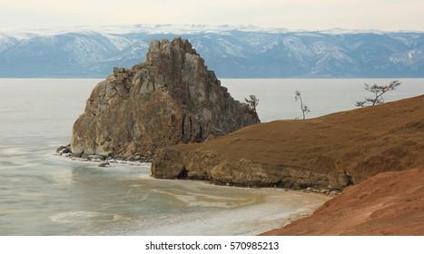 Olkhon island,Mount Shamanka or Cape Burkhan on Siberian,Lake Baikal