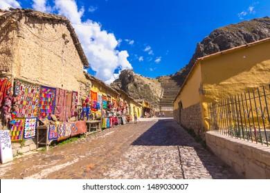 Ollantaytambo, Inca ruins of Ollantaytambo, Sacred Valley of the Incas. Peru. Tawantinsuyo.