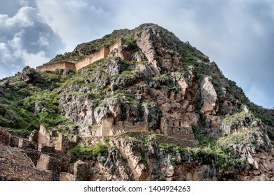 Ollantaytambo - old Inca fortress in the Sacred Valley in  Andes, Cusco, Peru