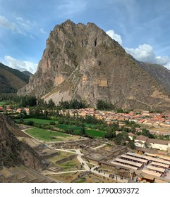 Ollantaytambo Ruins and Terraces.Ollanta-living Inca city,because it uses the streets, layout and structures of the original Inca town that was located here. Famous ancient Inca fortress. Seed storage