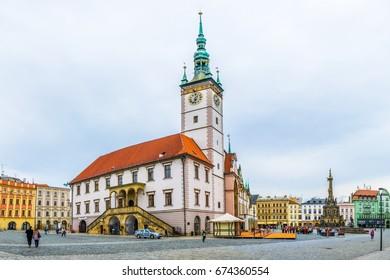 OLOMOUC, CZECH REPUBLIC, APRIL 16, 2016: View of the town hall of the czech city Olomouc.