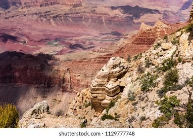 olorado river at Grand canyon. Lipan Point view, Arizona, USA