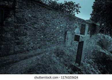 Ols Spooky Graveyard in Cornwall England