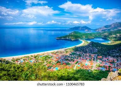 Oludeniz Bay view in Fethiye Town