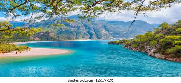Oludeniz Beach And Blue Lagoon, Best beaches in Turkey - Fethiye, Turkey