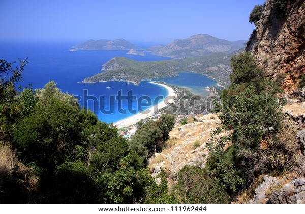 Oludeniz & the Blue Lagoon viewed from the Lycian way high up in the mountains