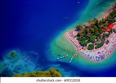 Oludeniz, Fethiye, Turkey, Aerial View From Different Points Of View (Coast and Forest)