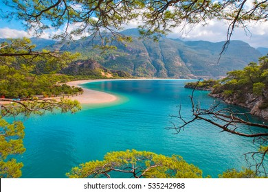 Oludeniz is one of the most famous beach in Turkey