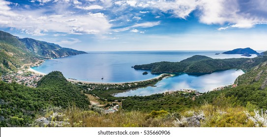 Oludeniz panoramic view from hill in Fethiye