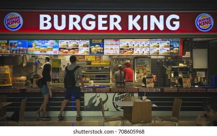 Oludeniz, TURKEY - AUGUST 12, 2017: Burger King restaurant.