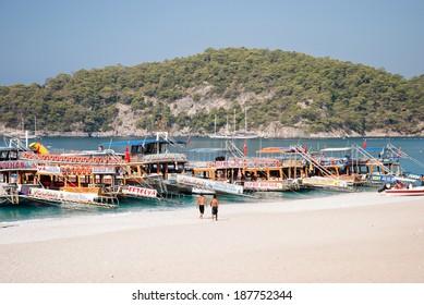 OLUDENIZ, TURKEY - SEPTEMBER 07: Yachts in Oludeniz, Fethiye, Turkey on September 07, 2008