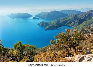 oludeniz view of beach and lagoon, Turkey