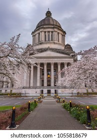 Olympia, WA USA - March 25th, 2018. The Washington State Capitol or Legislative Building in Olympia is the home of the government of Washington state.