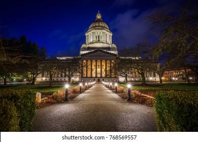 Olympia Washington, Capitol Grounds, At Sunset