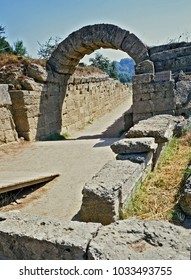 Olympic gate at olympic stadium - Olympia - Greece