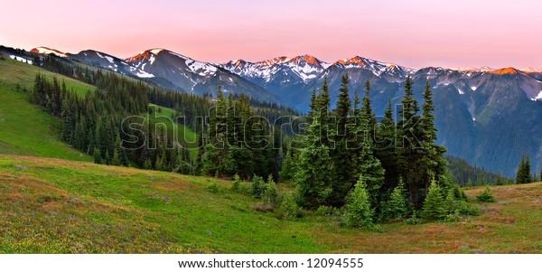 Olympic Mountain Range Sunrise
