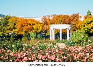 Olympic park rose square at autumn in Seoul, Korea